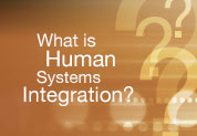 Click to visit the What is Human System Integration? Website